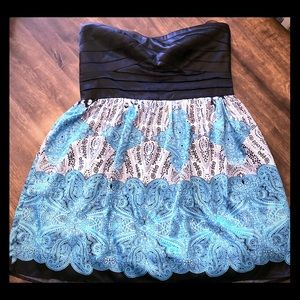 Studio Y strapless paisley dress